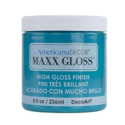 Americana Decor Maxx Gloss 8 oz. Caribbean Sea Paint