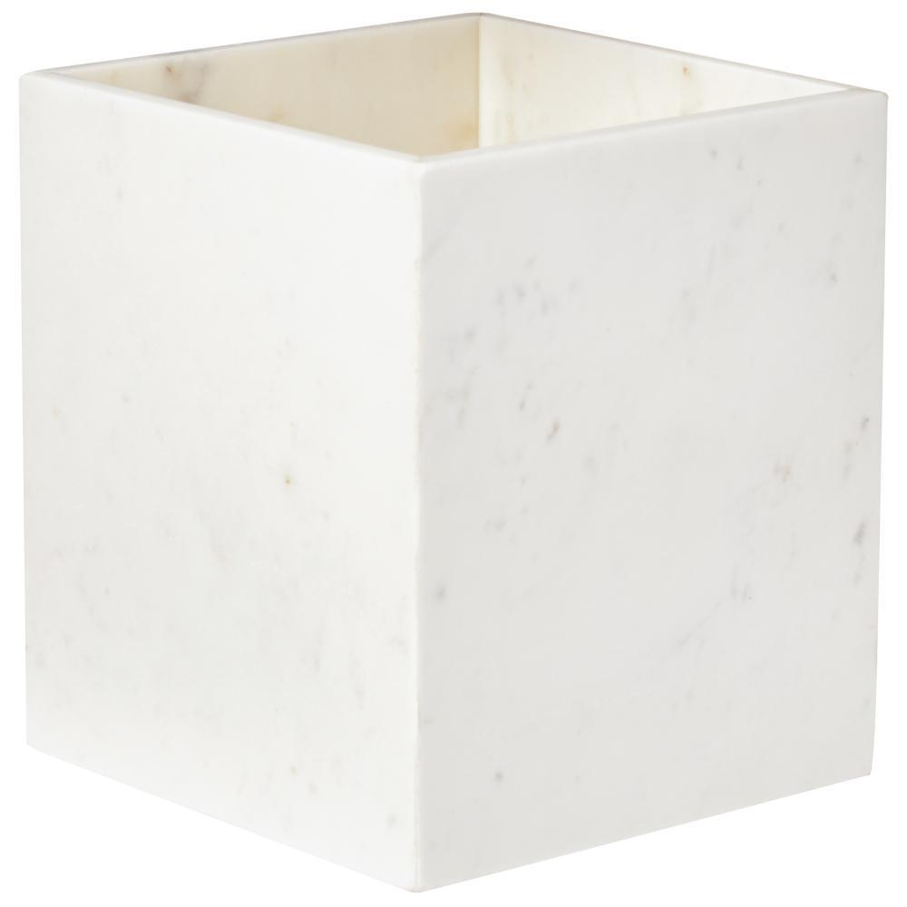 Larissa Waste Basket in White