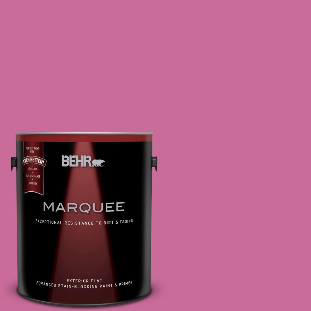 BEHR MARQUEE 1 gal. #100B-6 Fuschia Kiss Flat Exterior Paint and ...