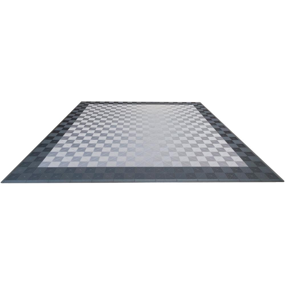 Swisstrax garage flooring flooring the home depot grey and silver double car pad ribtrax modular tile flooring 268 sq ft dailygadgetfo Images