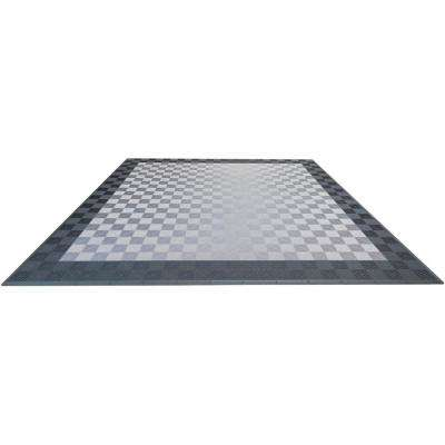 Grey and Silver Double Car Pad Ribtrax Modular Tile Flooring (268 sq. ft. / case)