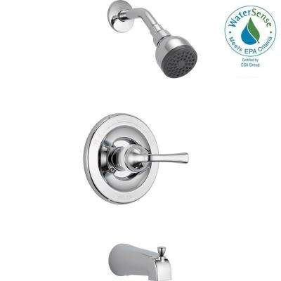 Foundations Single-Handle 1-Spray Tub and Shower Faucet in Chrome
