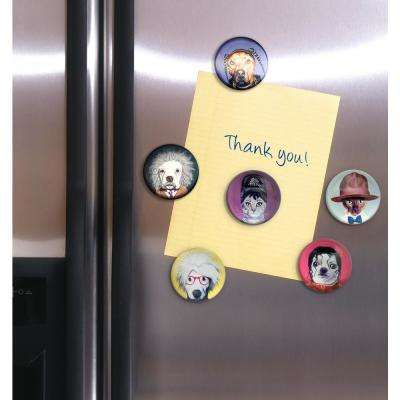 1.5 in. Dia Pets Rock Characters Magnets in Gift Box (Set of 6)