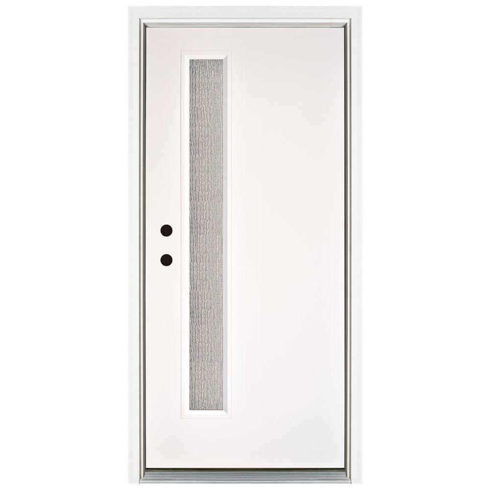 Narrow Lite Door : Mp doors in water wave modern narrow lite
