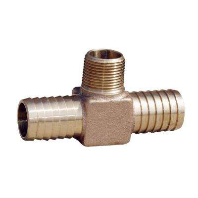 1 in. x 1 in. x 1 in. Brass Yard Hydrant Tee