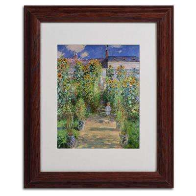 11 in. x 14 in. The Artist's Garden at Vetheuil Matted Brown Framed Wall Art