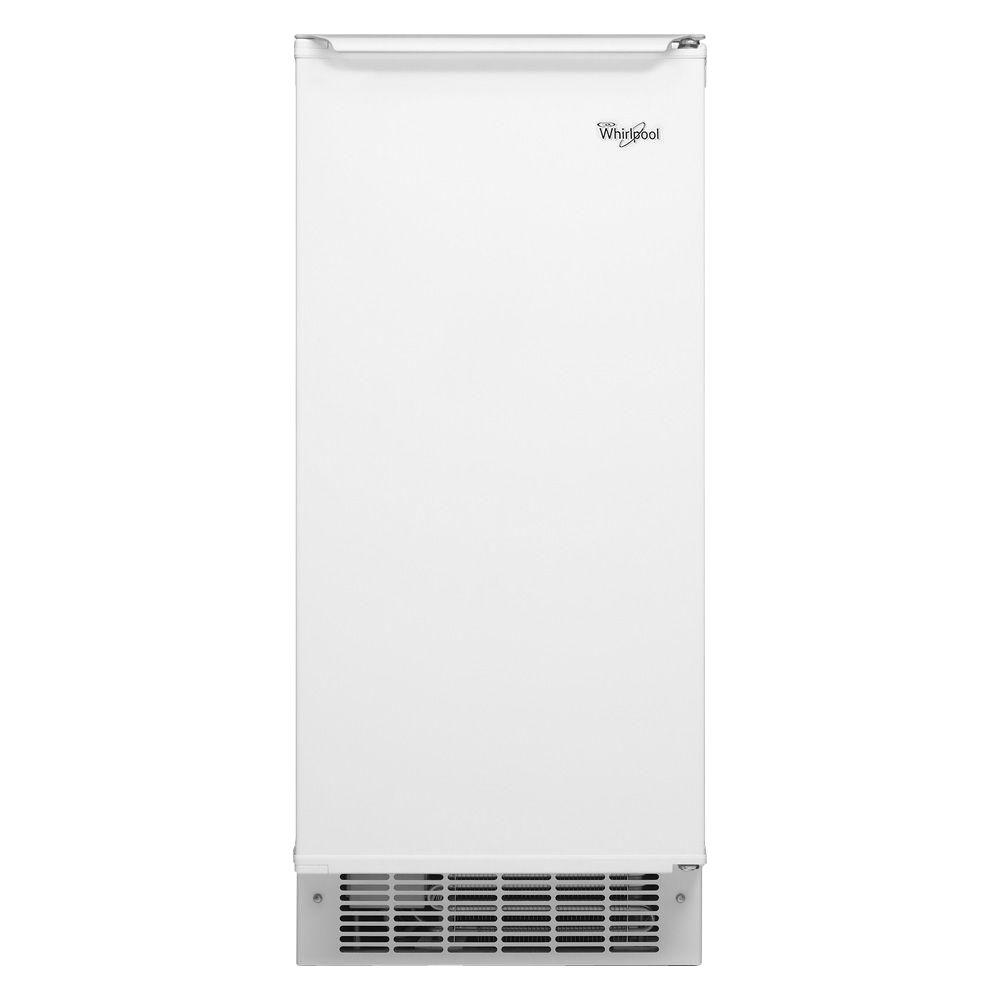 Whirlpool 15 in. 50 lb. Freestanding or Built-In Icemaker in White