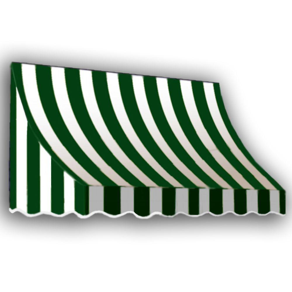 AWNTECH 10 ft. Nantucket Window/Entry Awning (31 in. H x 24 in. D) in Forest/White Stripe