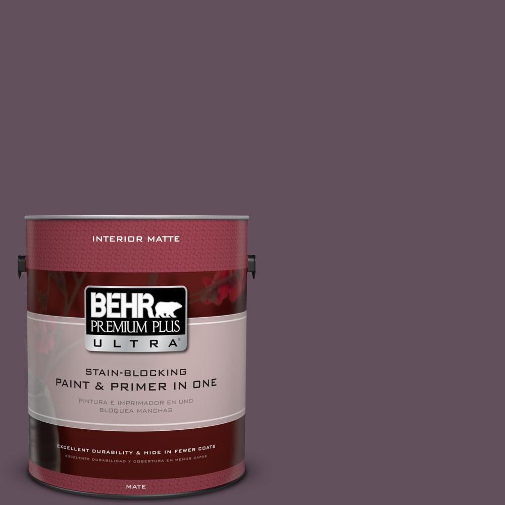 1 gal. #S100-7 Medieval Wine Matte Interior Paint