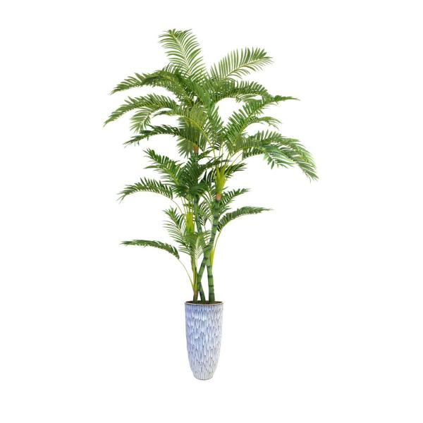 Laura Ashley 91.5 in. Palm Tree Artificial Faux Dcor in Resin