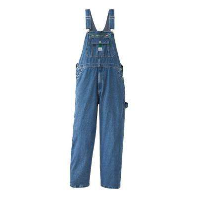 34 in. x 28 in. Stonewashed Denim Bib Overall