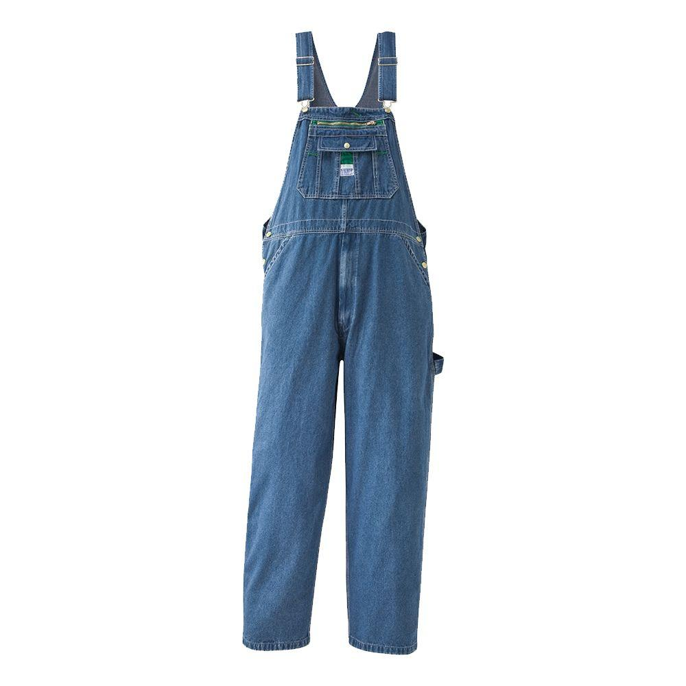 Liberty 38 in. x 32 in. Stonewashed Denim Bib Overall