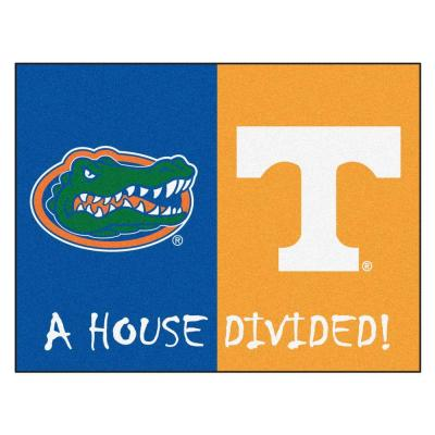 NCAA Florida/Tennessee House Divided 3 ft. x 4 ft. Area Rug