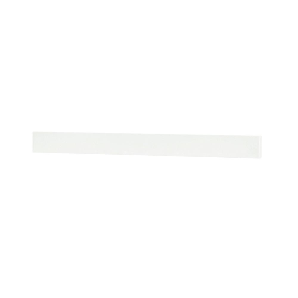 Home Decorators Collection Austell 37 in. Marble Backsplash in White