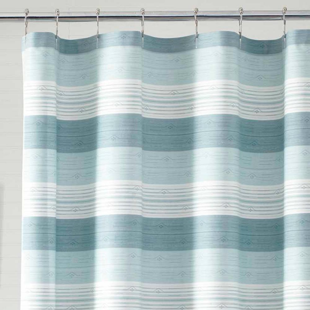Hula Beach 72 in. Cotton Shower Curtain