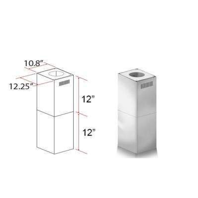 ZLINE 2-12 in. Short Chimney Pieces for 7 ft. to 8 ft. Ceilings (SK-GL5i)