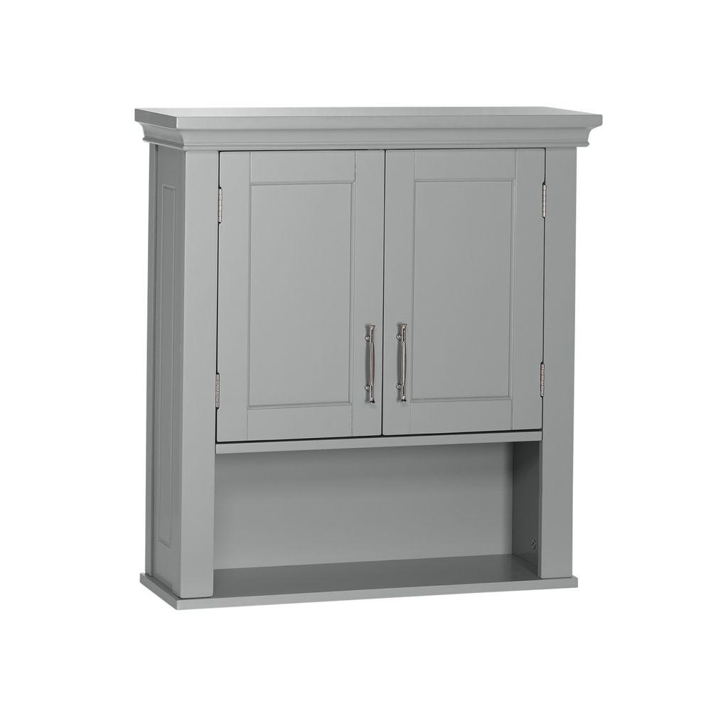 Riverridge home somerset collection 22 1 2 in w x 24 1 2 for Grey bathroom cupboard