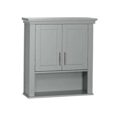 Somerset Collection 22.88 in. W x 24.38 in. H x 7.88 in. D 2-Door Wall Cabinet in Gray