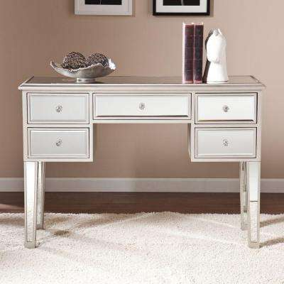 Elberta Silver Mirrored Console Table