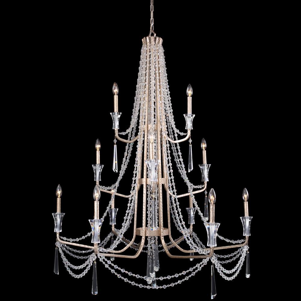 Barcelona 12-Light Crystal Transcend Silver Chandelier