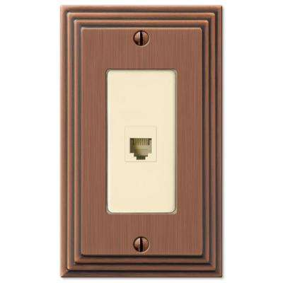 Steps 1 Phone Wall Plate - Antique Copper