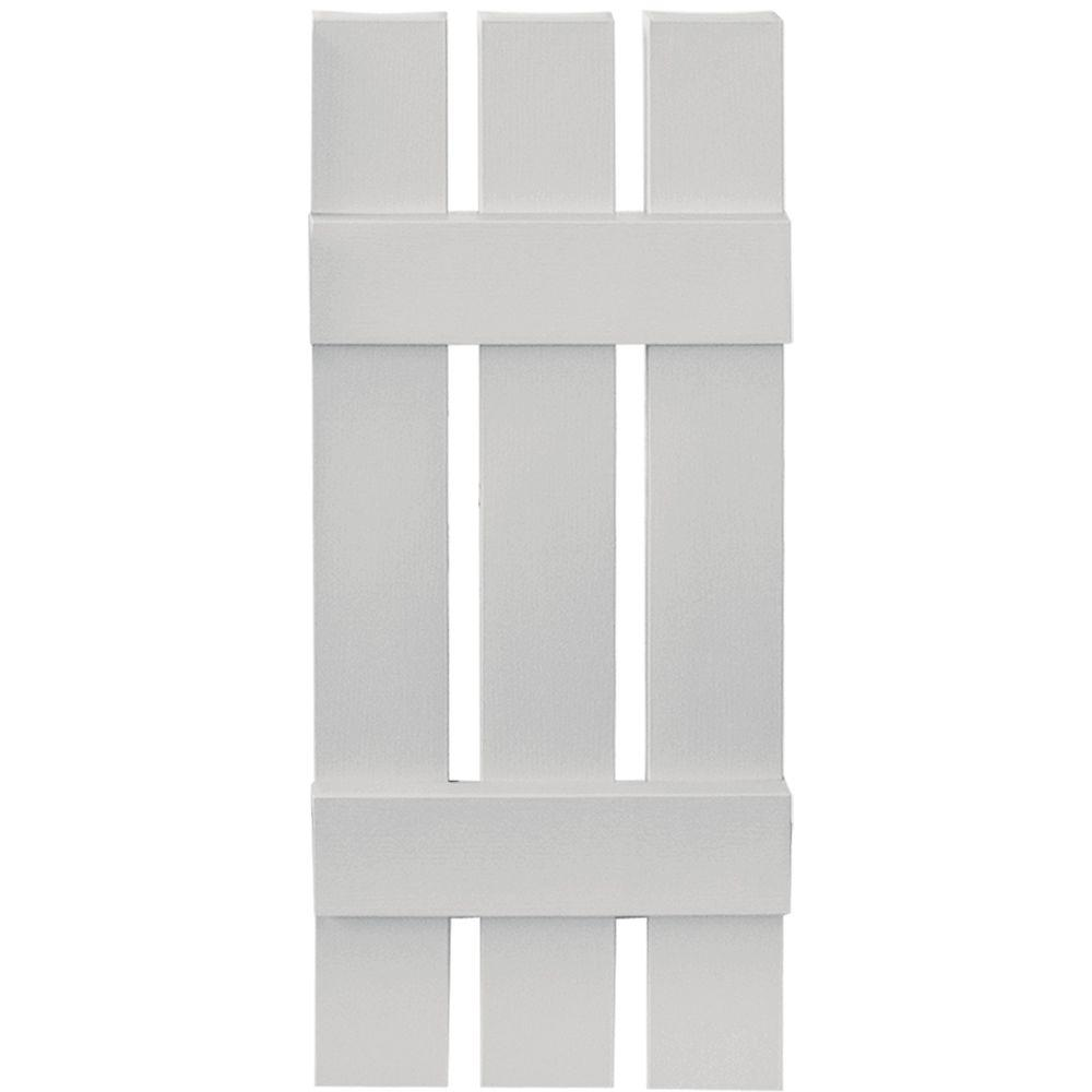 Builders Edge 12 in. x 31 in. Board-N-Batten Shutters Pair, 3 Boards Spaced #030 Paintable