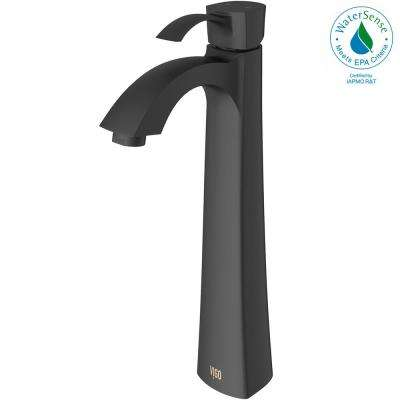 Otis Single Hole Single-Handle Bathroom Faucet in Matte Black
