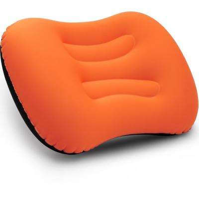 Orange Ult-Ralight Inflatable Air Pillow Compressible Compact for Neck and Lumbar Support for Travel Trips Camping