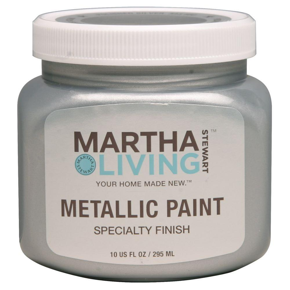 Martha Stewart Living 10-oz. Polished Silver Metallic Paint-259281 - The Home Depot
