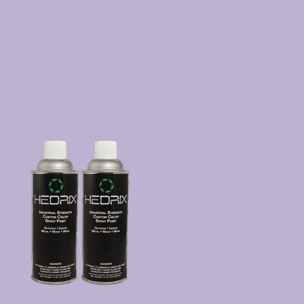 Hedrix 11 oz. Match of MQ4-30 Lavender Wash Flat Custom Spray Paint (2-Pack)