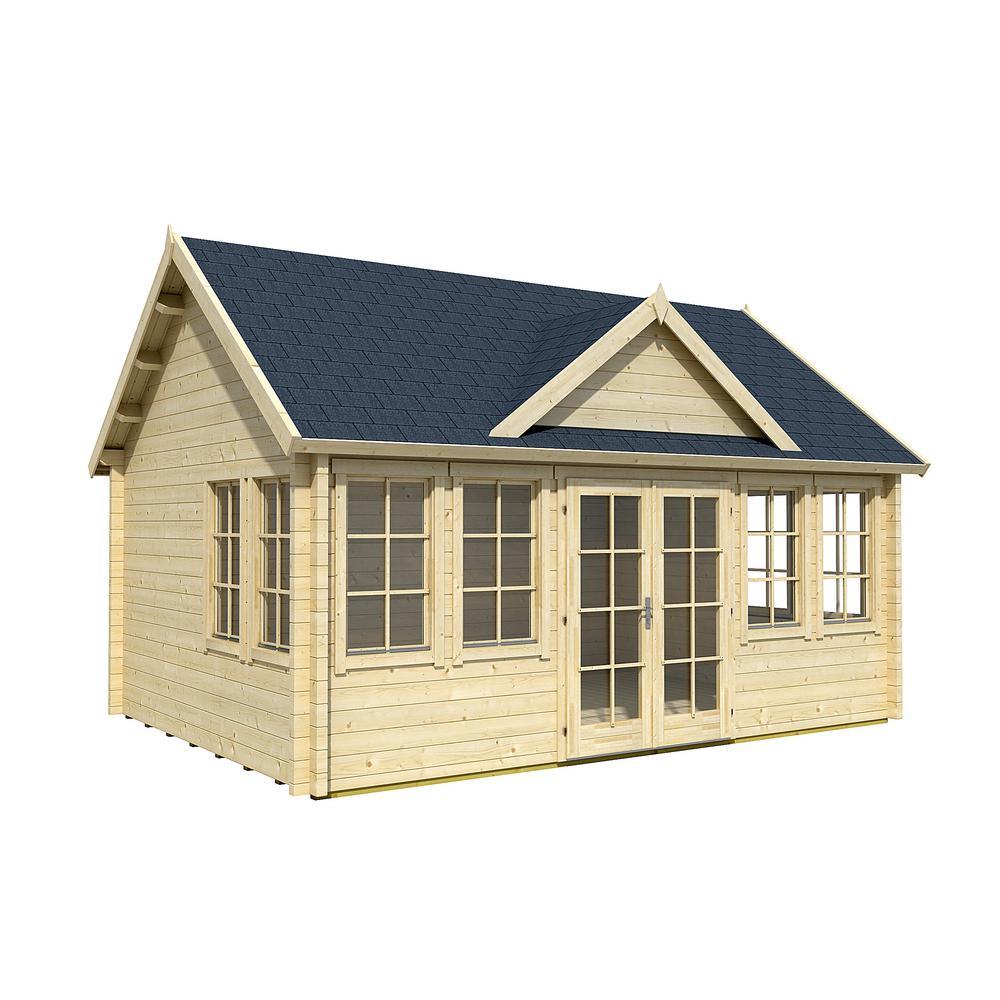 Allwood Claudia 17 ft. x 12.5 ft. x 11.91 ft. Kit Cabin Garden House
