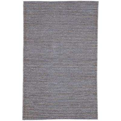 Naturals Monaco Gray 9 ft. x 12 ft. Solid Rectangle Area Rug