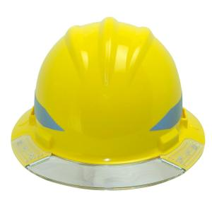 Bullard Yellow Full Brim Above View Hard Hat with Clear Brim Visor 4-Point Ratchet Suspension System and Cotton Brow Pad by Bullard