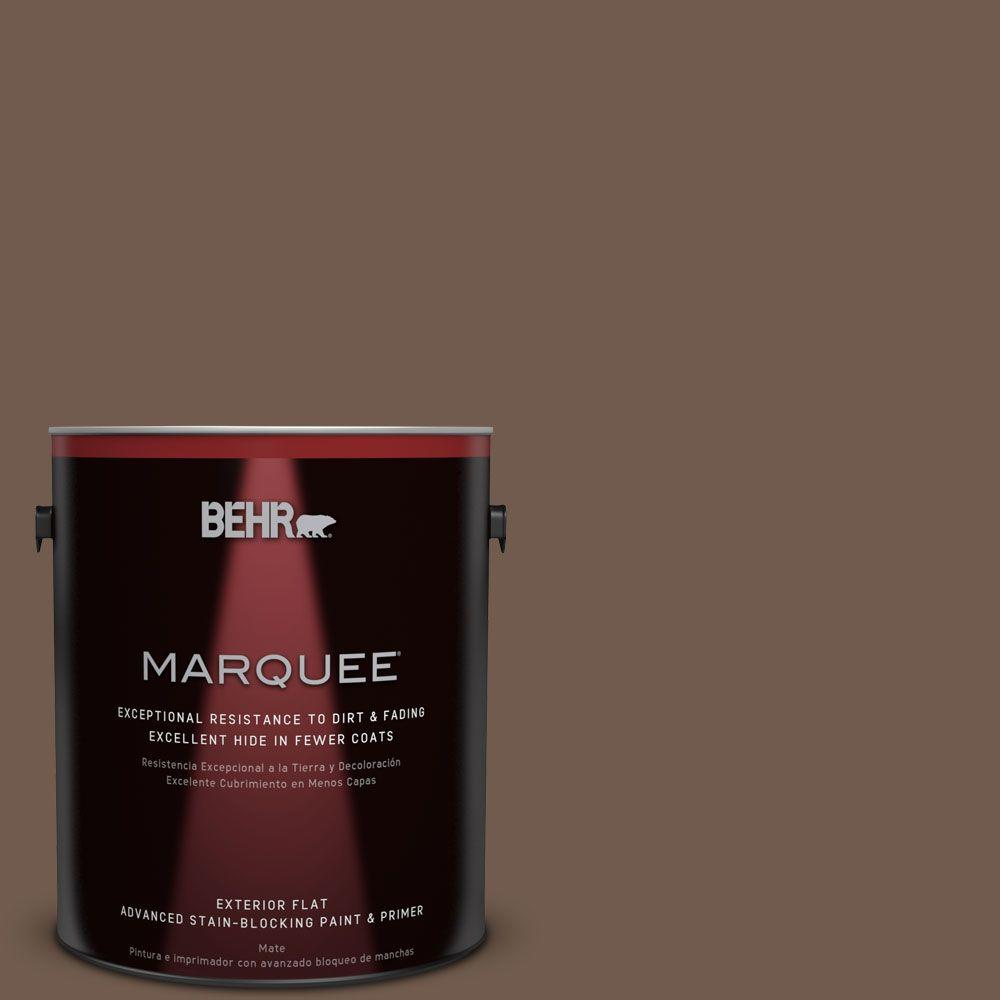 1-gal. #PPF-52 Rich Brown Flat Exterior Paint