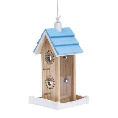 1.25 lbs. Birdie B and B Wood Chalet Bird Seed Feeder
