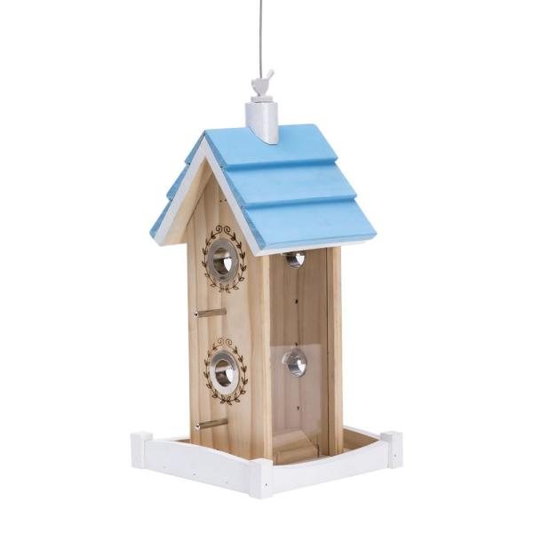 Birdie B&B Chalet Hanging Wood Bird Feeder - 2 lb. Capacity