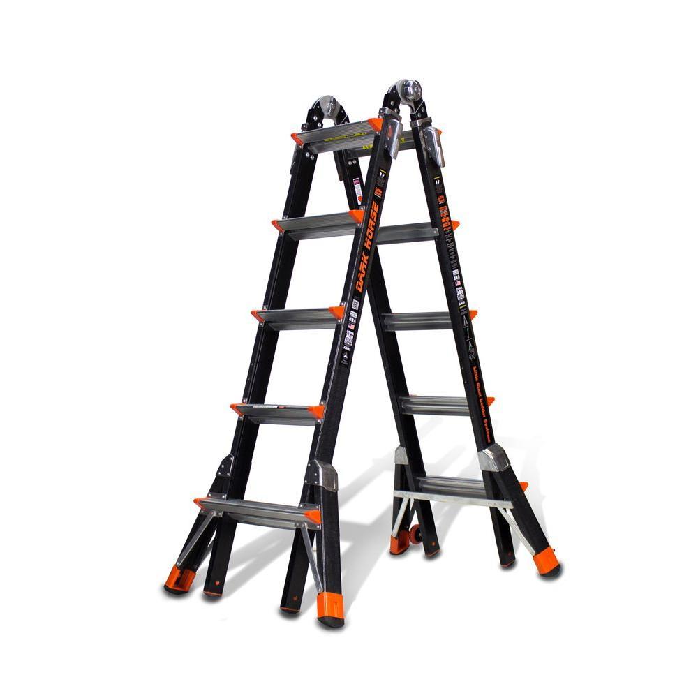 22 ft. Dark Horse Fiberglass Multi-Position Ladder with 300 lb. Load