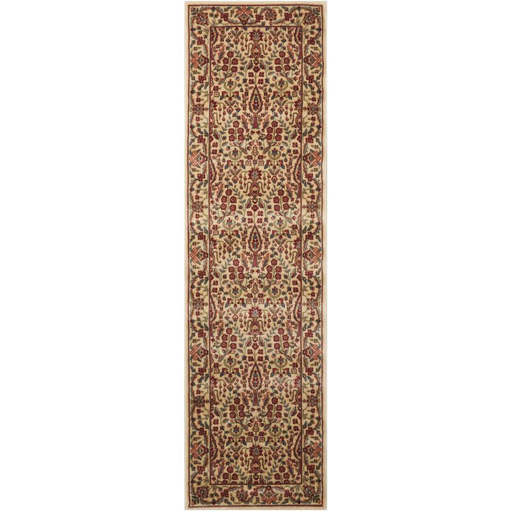 Persian Arts Ivory 2 ft. x 12 ft. Runner Rug