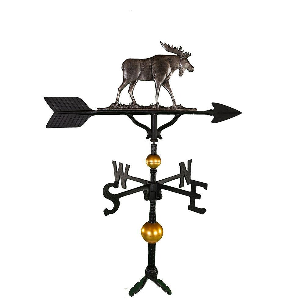 Montague Metal Products 32 in. Deluxe Swedish Iron Moose Weathervane