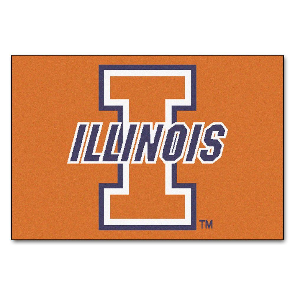 FANMATS University of Illinois 19 in. x 30 in. Accent Rug