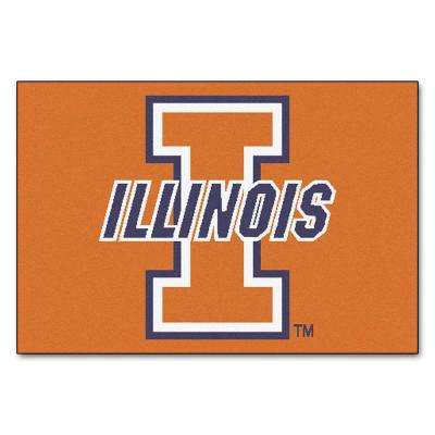 University of Illinois 19 in. x 30 in. Accent Rug