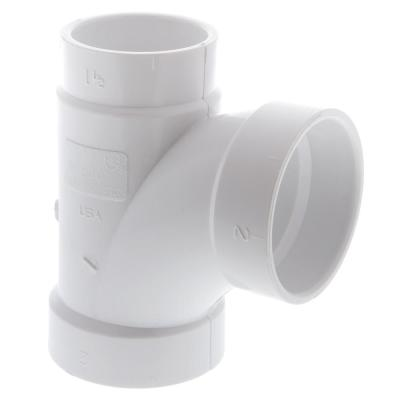 2 in. x 1-1/2 in. x 2 in. PVC All Hub Sanitary Reducing Tee