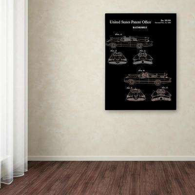 "47 in. x 35 in. ""Batmobile Car Patent 1966"" by Claire Doherty Printed Canvas Wall Art"