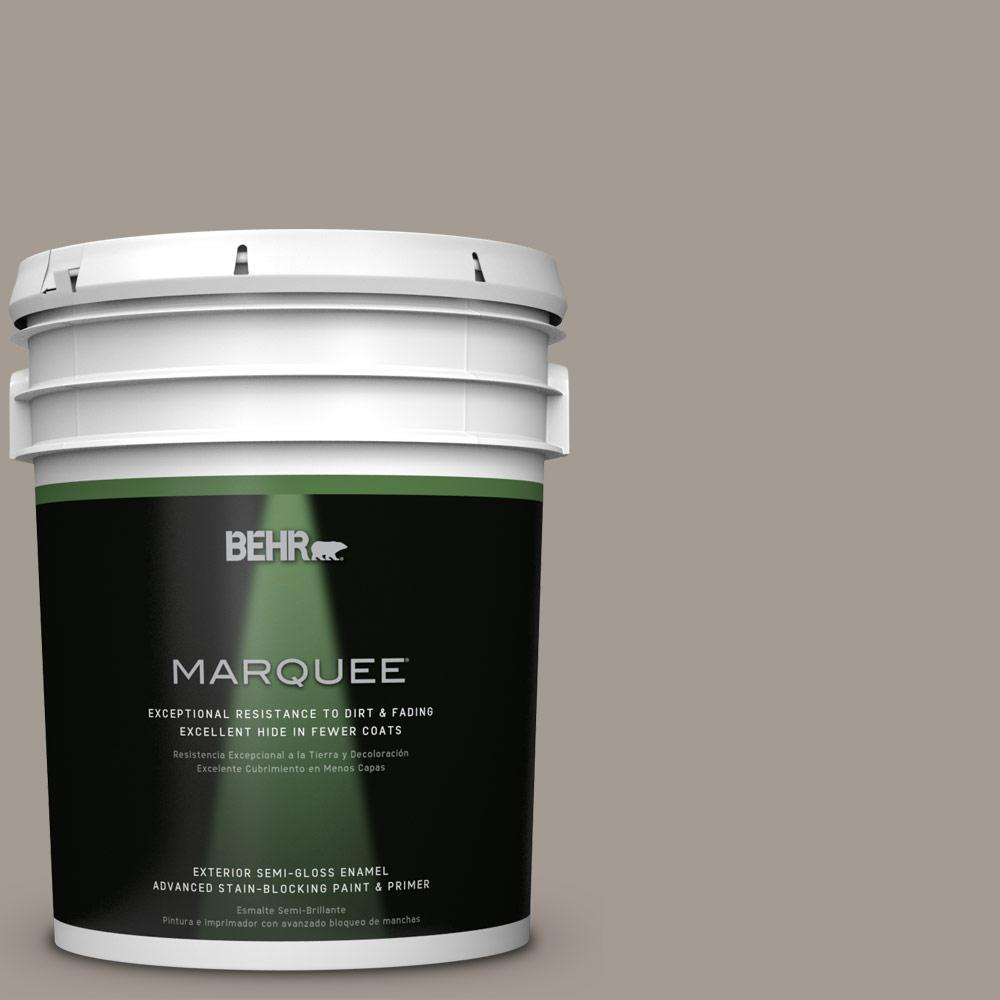 BEHR MARQUEE 5-gal. #BXC-54 River Pebble Semi-Gloss Enamel Exterior Paint
