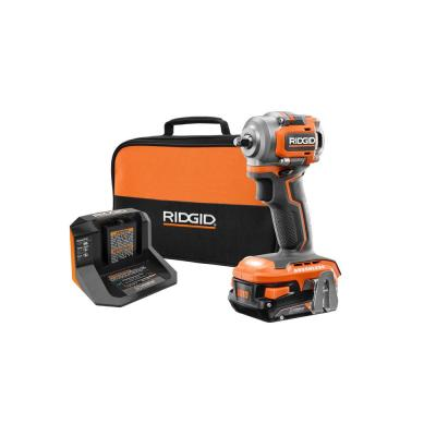18V SubCompact Lithium-Ion Cordless Brushless 3/8 in. Impact Wrench Kit with 2.0 Ah Battery, 18V Charger, and Bag
