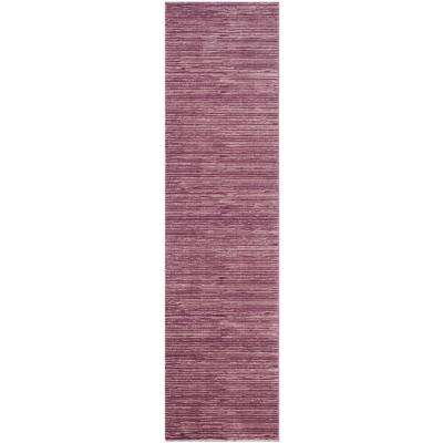 Vision Grape 2 ft. x 8 ft. Runner Rug