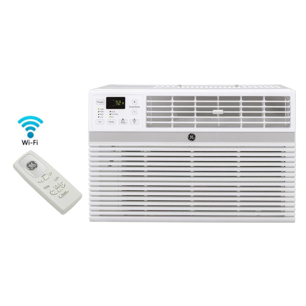 GE 8,000 BTU ENERGY STAR Window Smart Room Air Conditioner with Wi-Fi and  Remote-AEC08LX - The Home Depot