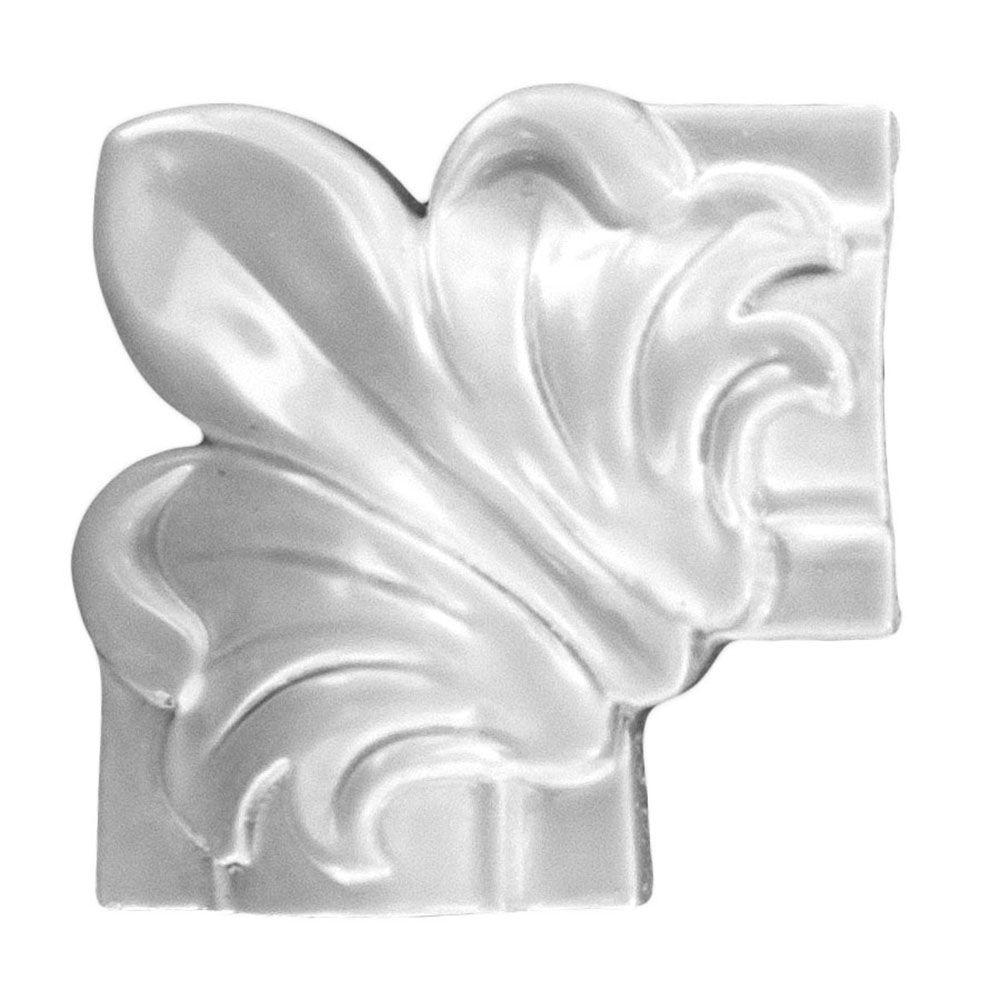 American Pro Decor 1 in. x 3-1/8 in. x 3-1/8 in. Floral Wooden Panel Moulding