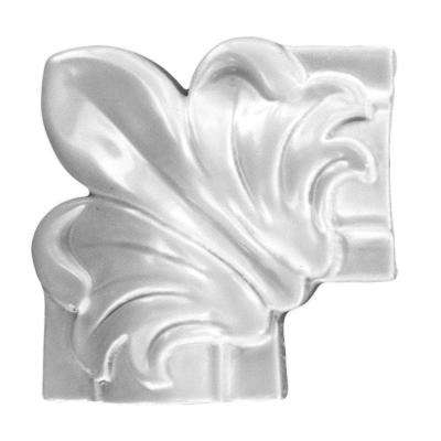 1 in. x 3-1/8 in. x 3-1/8 in. Floral Wooden Panel Moulding