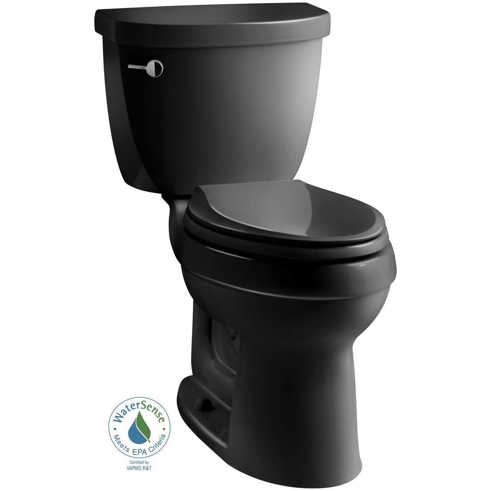 Cimarron 2-piece 1.28 GPF Single Flush High Efficiency Elongated Toilet with